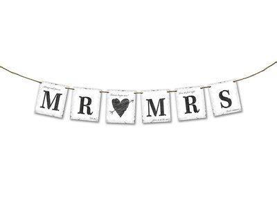 slinger trouwen mr mrs met henneptouw versiering huwelijk organza zakjes