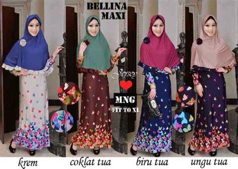 bellina syar i baju gamis bellina maxi y213 xl busana muslim modern