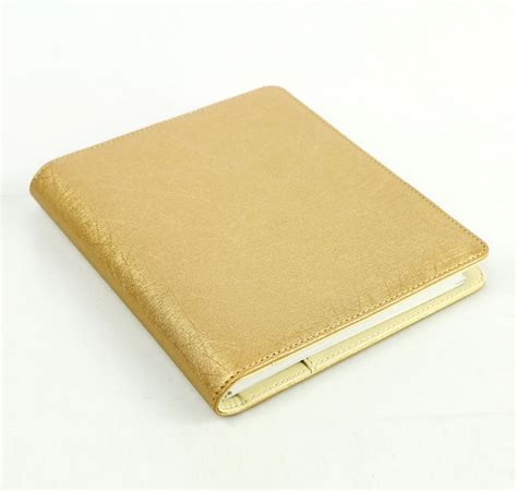 top sale blank pu leather planner  golden edge
