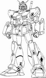 Coloring Gundam Robot Giant Pages Imposing Pngkit sketch template