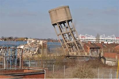 Water Tower Demoltion Courtaulds Chimney Watertower 28dayslater