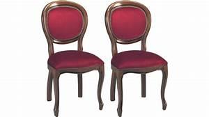 Chaise Medaillon But : chaises m daillon velours bordeaux chaise m daillon pas cher ~ Teatrodelosmanantiales.com Idées de Décoration