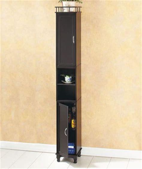 slim bathroom storage cabinet black 65 quot slim wooden storage cabinet organizer shelf