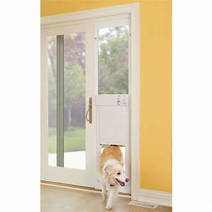 Build a dog door for sliding glass door theydesignnet for Dog door options