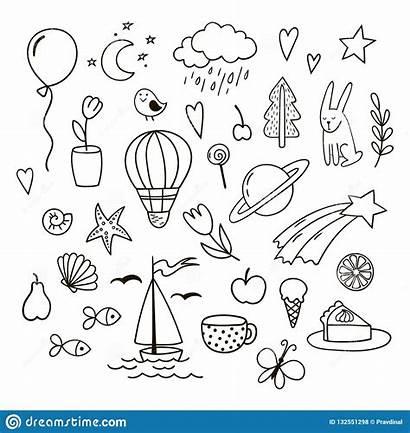 Doodles Clipart Vector Childish Balloon