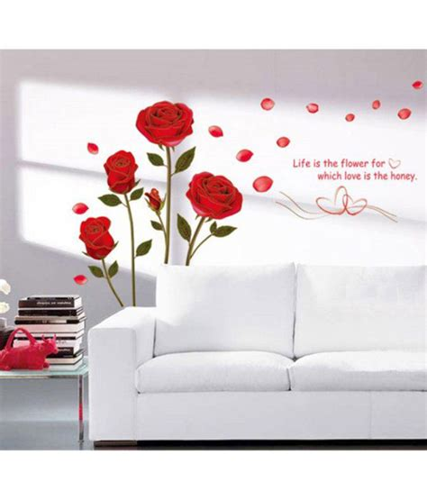 stickerskart wall stickers romantic rose flowers