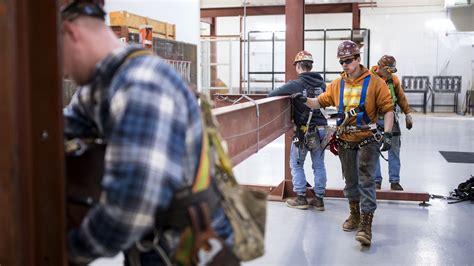 high paying trade jobs sit empty  high school grads