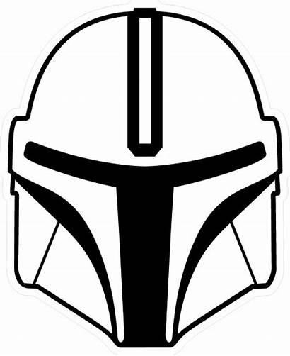 Decal Helmet Sticker Mandalorian Cartoon Decals Wars