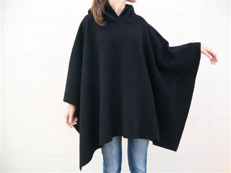 100% Merino Wool Cape / Hooded Cloak / Unisex Wool Poncho