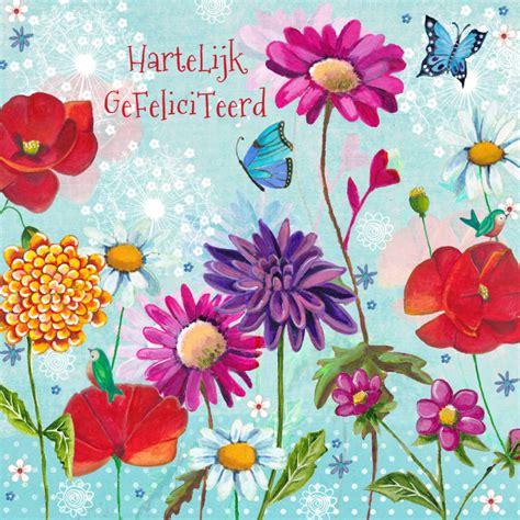Verjaardag Dame Bloemen Verjaardagskaarten Kaartje2go Felicitatie