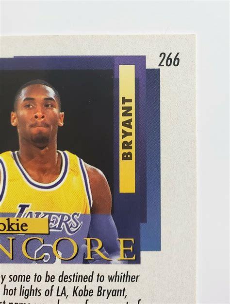 The design of this kobe. 1996-97 Fleer Ultra Encore Kobe Bryant Rookie Card RC #266 ...