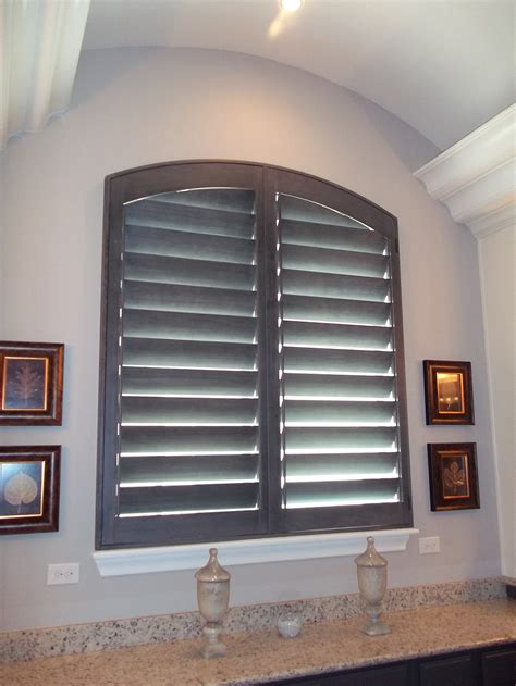 arched plantation shutters custom blinds shutters