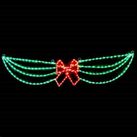 christmas swag lights with bow led swag