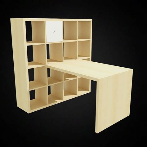 ikea bureau expedit ikea expedit bookcase and desk models for 3d