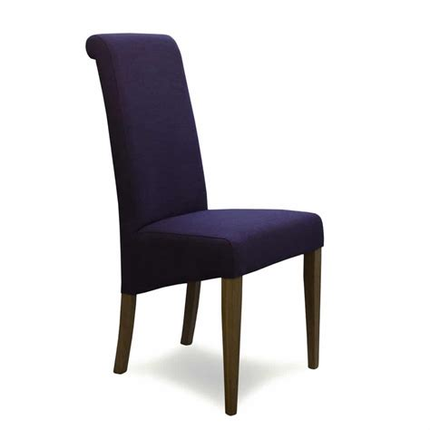 napoli purple fabric dining chair furniture and mirror