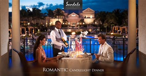 private candlelight beach dinner   sandals