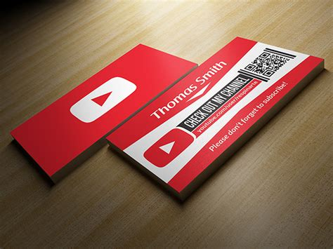 Free Youtube Business Card Template On Behance