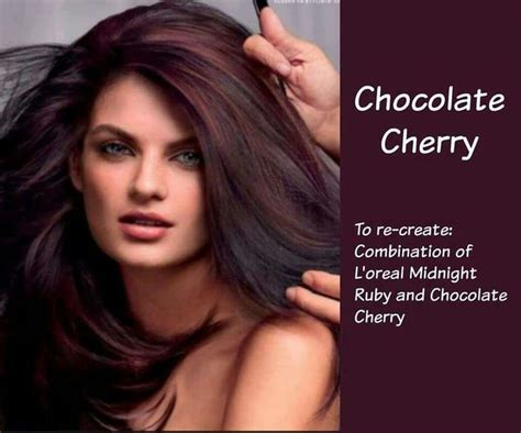 Hair Color Chocolate Cherry Combination Of L'oréal