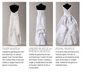 wedding dress bustle types db bustle options wedding dress bustle