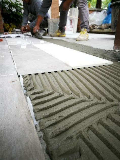 piastrelle senza colla posa a colla o a sabbia e cemento fratelli pellizzari