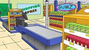 Image Gallery inside supermarket clip art
