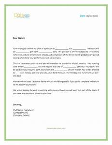 job offer letter uk template free With offer of employment letter template free