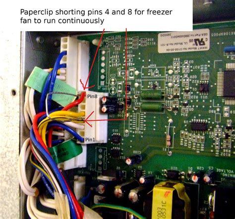 freezer fan  working ge refrigerator applianceboards