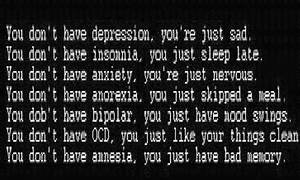amnesia, anorex... Ocd And Anxiety Quotes