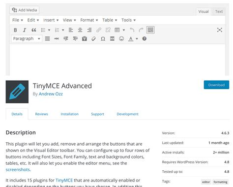 Easily Add Tables To Posts With Tinymce Advanced