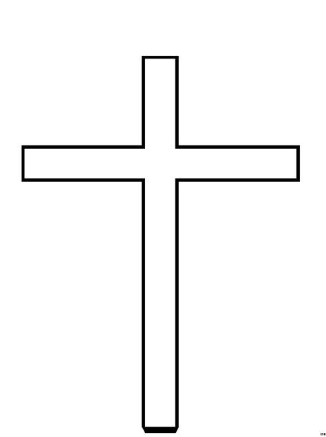 schematisches kreuz ausmalbild malvorlage religion