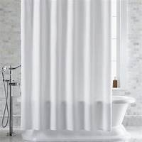 white shower curtain Pebble Matelassé White Shower Curtain | Crate and Barrel