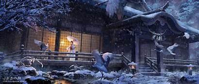 Anime Wide Ultra Japan Ultrawide Wallpapers Desktop