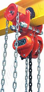 Tiger Chain Hoist With Integrated Trolleys  Push And
