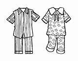 Pajamas Coloring Pajama Pyjama Coloringcrew Party Clip Pijama Dia Pages Da sketch template