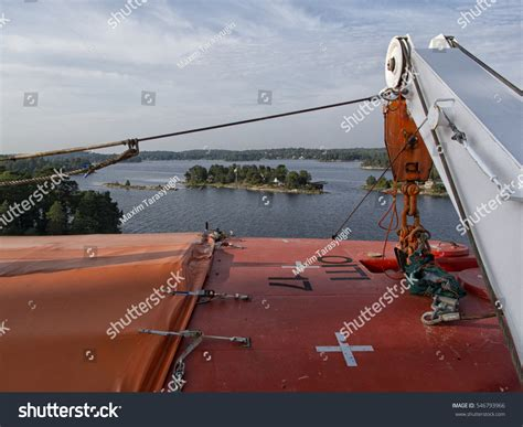 Ferry Boat Parts by Part Big Ferry Saving Boat On Stock Photo 546793966