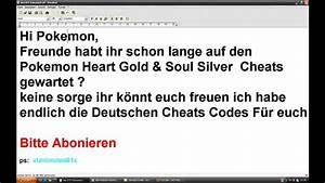 Pokemon Heart Gold Und Soul Silver Cheats Youtube