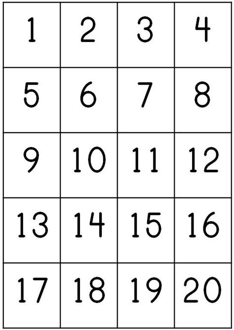 number counting chart 1 20 pritnable count 1 20 write 507 | bb548b6fa0862e92302c4ba4fb1a85ed