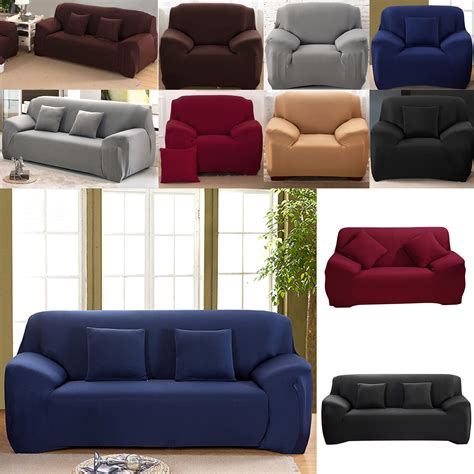 Stretch Settee Covers Uk by 1 2 3 Sofa Covers Slipcover Stretch Elastic Fabric