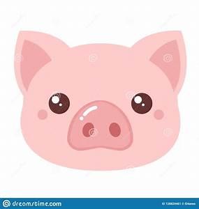 Pig head. Vector stock vector. Illustration of food ...