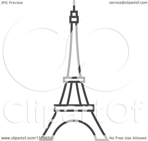 clipart   grayscale eiffel tower royalty  vector illustration  elena
