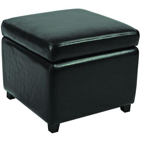 safavieh ottomans safavieh jonathan black storage ottoman hud4007b the
