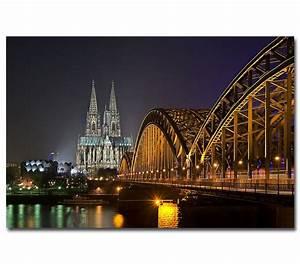 Leinwand Köln Skyline : k ln bei nacht 1 poster leinwand skyline hohenzollernbr cke ~ Sanjose-hotels-ca.com Haus und Dekorationen