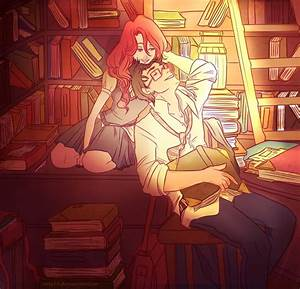 James and Lily are studying. by viria13 on DeviantArt