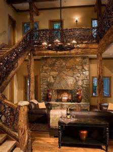 interior of log homes inside log cabin for the home