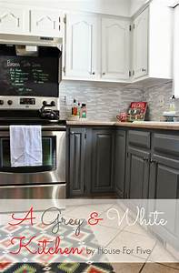 Grey and White Kitchen Makeover 883