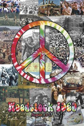 woodstock  peace collage poster woodstock trading company