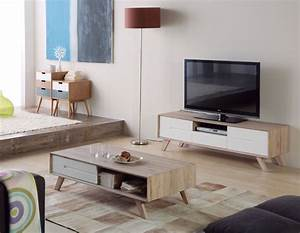 Meuble Tv Table Basse Scandinave