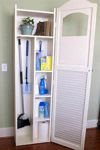 15 inspired ways to store your cleaning products shabby With floor pantry housekeeping