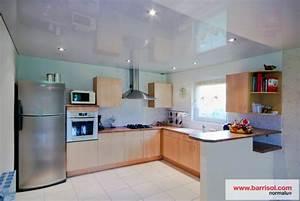 photos plafond tendu particulier cuisine With idees pour la maison 11 photos de plafond tendu dans votre piscine