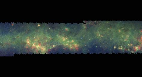 glimpse mipsgal milky way 12 nasa spitzer space telescope